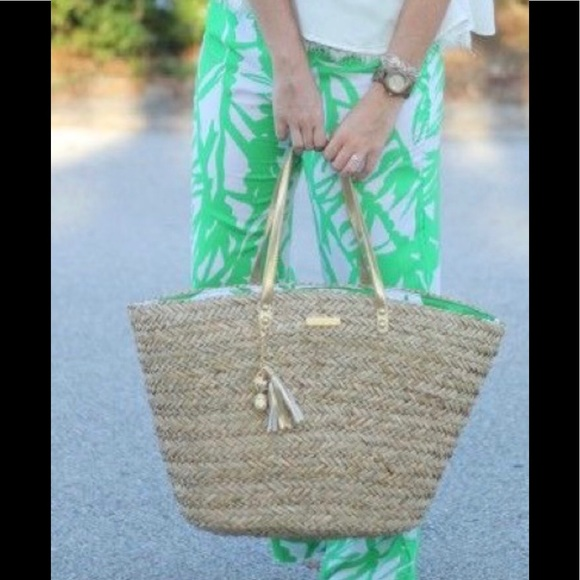 Lilly Pulitzer for Target Handbags - Lilly Pulitzer Large Woven Straw Beach Tote